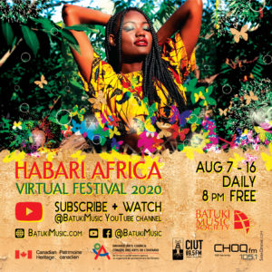 batuki music society toronto ontario canada africa african art culture artists nadine mcnulty otimoi oyemu habari concert virtual online youtube