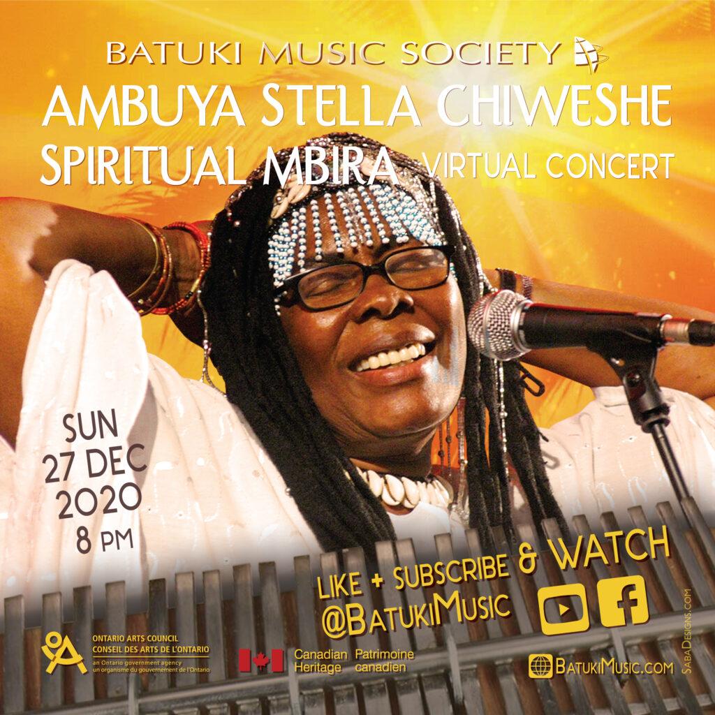batuki music society toronto ontario canada africa african art culture artists nadine mcnulty otimoi oyemu habari concert stella chiweshe mbira spiritual