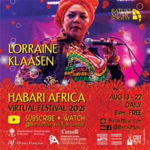 Habari Africa Virtual Festival 2021 : Lorraine Klaasen